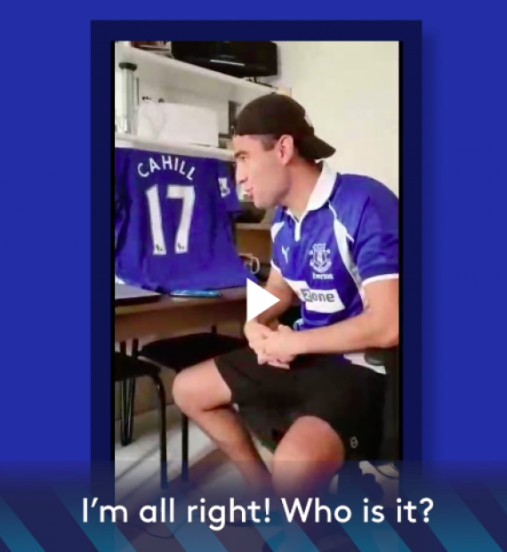 Everton fan gets emotional over Richarlison's unexpected call