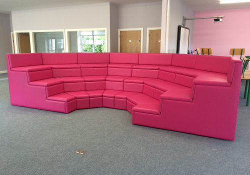 3-Tiered Leather Seating For A National School In