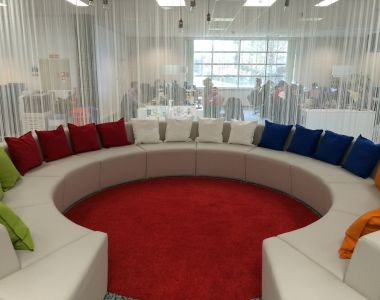 Circular Couch For Google Offices