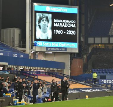 Antes do jogo homenagem a Diego Armando Maradona 1