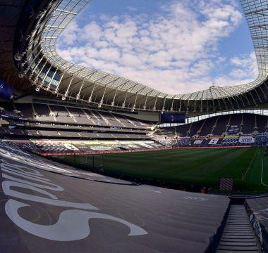 Estádio do Tottenham antes da partida contra o Everton